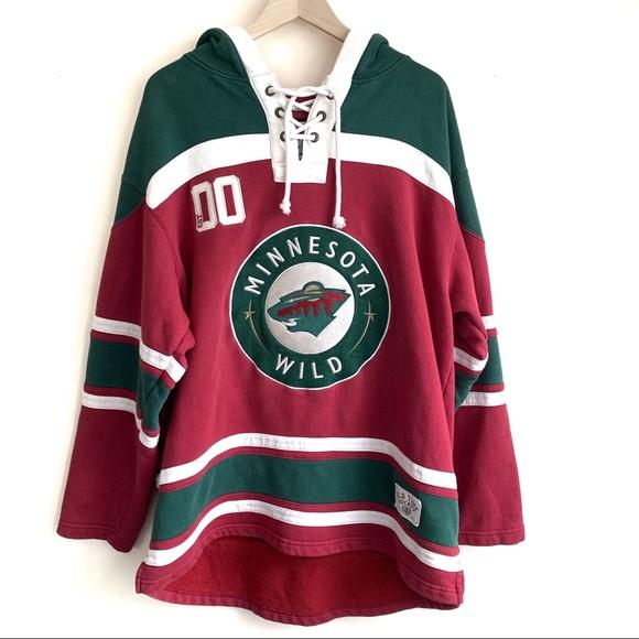 MINNESOTA WILD NHL Heavyweight Jersey Lacer Hoodie